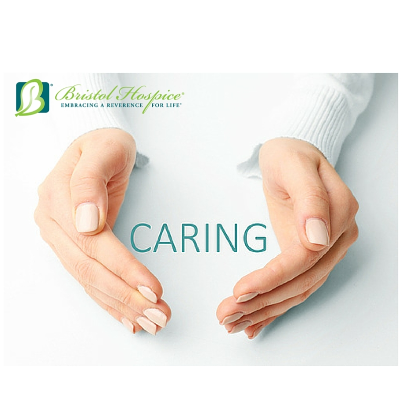 testimonial caring hands graphic